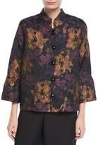 Caroline Rose Festive Floral Bell-Sleeve Jacket