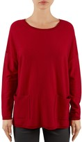 Gerard Darel Lewis Patch-Pocket Merino Wool Sweater