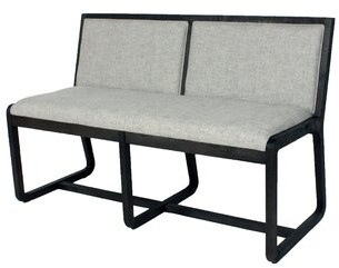 Blink Home Coronado Solid Wood Bench Upholstery: Pepper, Color: Ebony