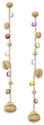 Marco Bicego Paradise 18K Yellow Gold & Semi-Precious Multi-Stone Graduated Long Earrings
