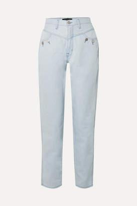 J Brand + Elsa Hosk Playday High-rise Straight-leg Jeans - Blue