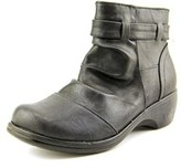Easy Street Shoes Bootz Women Round Toe Synthetic Black Ankle Boot.