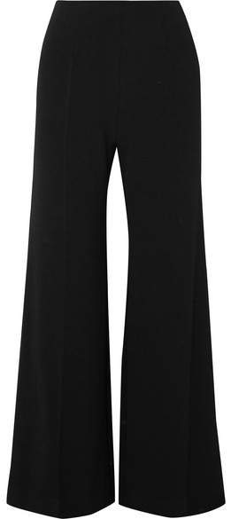 Emilia Wickstead Hulline Stretch-crepe Wide-leg Pants - Black
