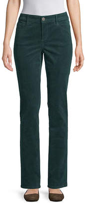 ST. JOHN'S BAY Womens Mid Rise Straight Corduroy Pant