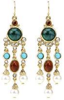 Ben-Amun Byzantine Pearl Long Chandelier Earrings