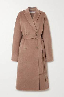 Acne Studios Double-breasted Belted Wool Coat - Beige