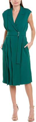 Jason Wu Collection Crepe Silk-Lined Wrap Dress