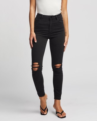 Abrand - Women's Black Skinny - A High Skinny Ankle Basher Jeans - Size 6 at The Iconic