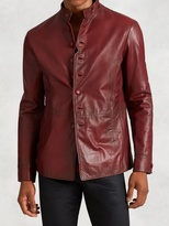 John Varvatos Goatskin Leather Button Jacket