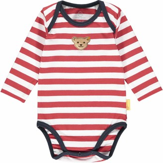 Steiff Baby Boys' Mit Suer teddybarapplikation Body Long Sleeve