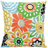 Nourison Embroidered Floral Outdoor Pillow