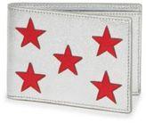Saint Laurent Metallic Leather Star Bifold Wallet