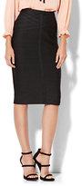 New York & Co. Lattice-Accent Pull-On Pencil Skirt