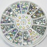 Great Mixed Diy Size Glitter Rhinestones Charm 3d Nail Art Decor Accessories