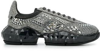 Jimmy Choo Diamond crystal-embellished sneakers