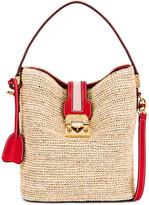 Mark Cross Murphy Raffia Bucket Bag in Red | FWRD