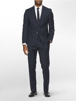 Calvin Klein X Fit Ultra Slim Fit Navy Glen Plaid Suit