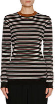 Marni Striped Cashmere Crewneck Sweater, Black