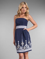 Marrakesh Embroidery Strapless Dress