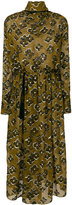 Petar Petrov flower embroidered roll neck dress