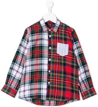 Il Gufo Contrasting Checked Shirt