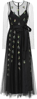 RED Valentino embellished embroidered tulle gown