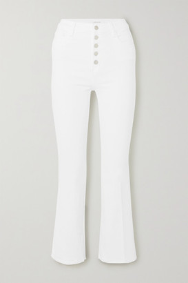 J Brand Lillie High-rise Cropped Bootcut Jeans - White