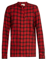 Gucci Tie-neck checked button-cuff shirt