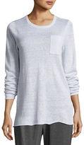 Eileen Fisher Lightweight Organic Linen Striped Top