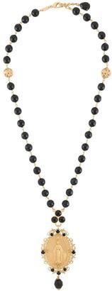 Dolce & Gabbana Beaded Pendant Necklace