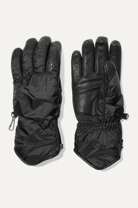 Bogner Baca Padded Leather And Shell Gloves - Black