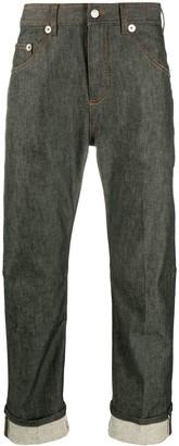 Neil Barrett Turn-Up Hem Straight-Leg Jeans