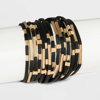 Universal Thread imulated Leather and Tube lider Magnetic Bracelet - Univeral ThreadTM