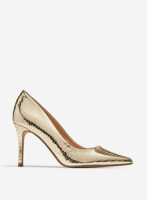 Dorothy Perkins Womens Gold 'Dele' Court Shoes, Gold