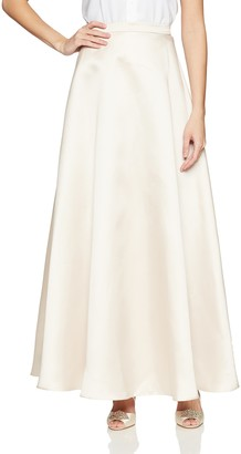 Alex Evenings Women's Long Circle Skirt with Elastic Waistband
