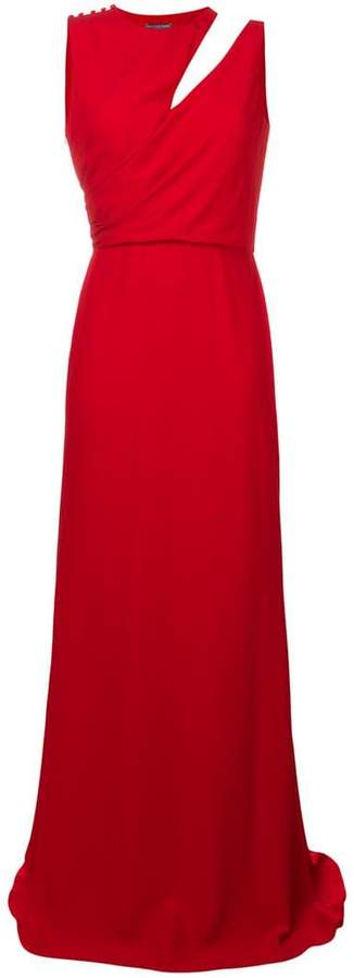 Alexander McQueen cut-out detail evening dress