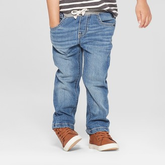 Cat & Jack Toddler Boys' Pull-On Straight Jeans - Cat & JackTM Medium Wash