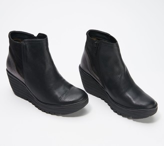 Fly London Leather Ankle Boots - Yavo