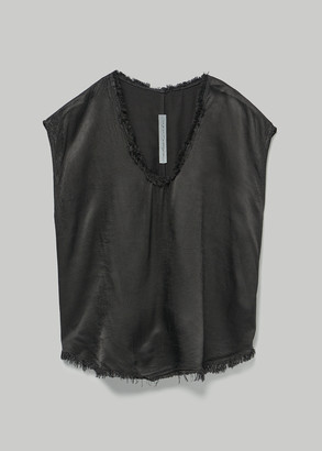 Raquel Allegra Women's Perfect Shell Top in Black Size 3 100% Rayon