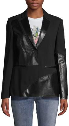 Versace Topstitched Peak Lapel Jacket