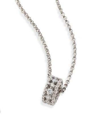 Roberto Coin Symphony Braided 0.22 TCW Diamond & 18K White Gold Pendant Necklace