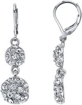 JCPenney 1928 Jewelry Crystal Fireball Double-Drop Earrings