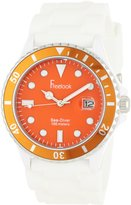 Freelook Men's HA1433-7H Sea Diver Jelly White Silicone Band with Dial Watch