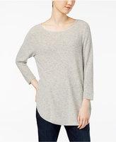 Eileen Fisher Organic Cotton Scoop-Neck Top, Regular & Petite