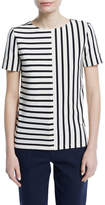 Tory Burch Harlie Striped Cotton Top