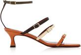 Atelier Manu Naomi Color-Block Leather Sandals