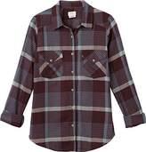 RVCA Women's Jig Long Sleeve Woven Button Front Shirt