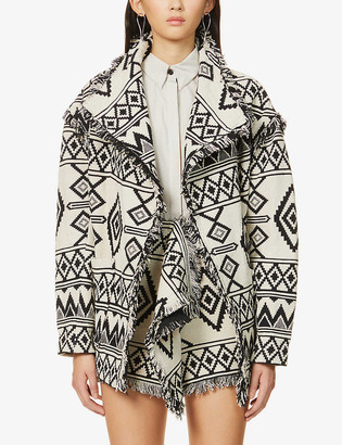 Etoile Isabel Marant Josiali graphic-pattern cotton jacket