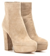 Gianvito Rossi Temple Suede Ankle Boots