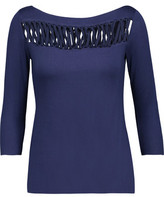 Bailey 44 Lattice-Paneled Stretch-Jersey Top